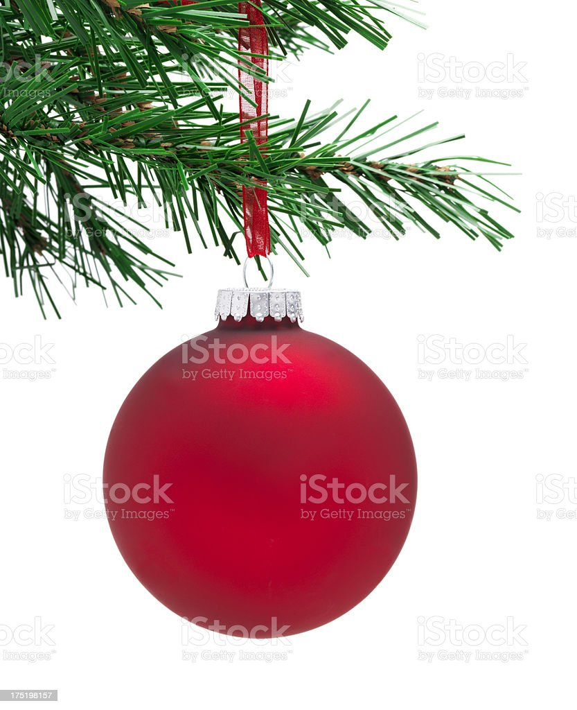 Plain red Bauble royalty-free stock photo