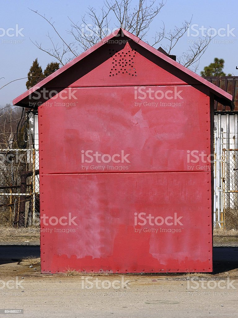Plain Red Building royalty-free stock photo