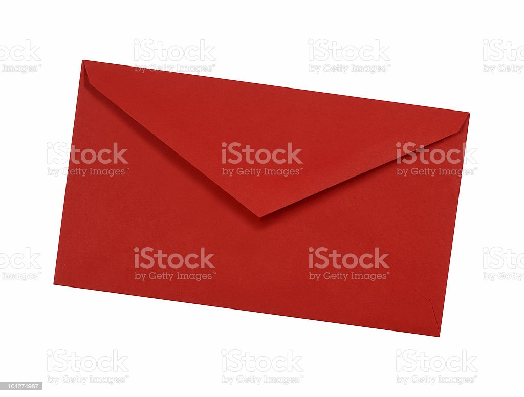 Plain red envelope royalty-free stock photo