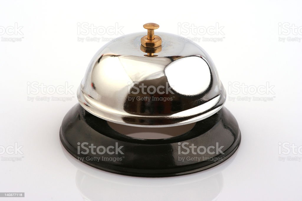 A plain service bell used to get someone's attention  stock photo