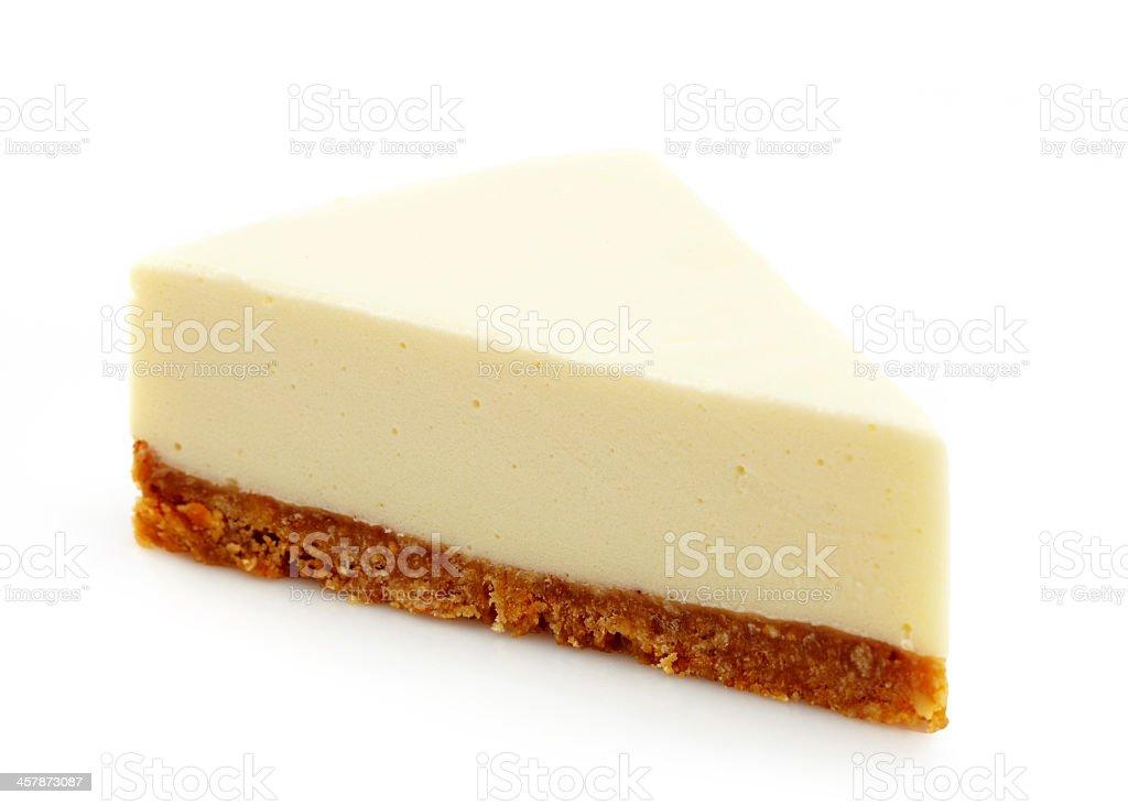 Plain slice of classic cheese cake stock photo
