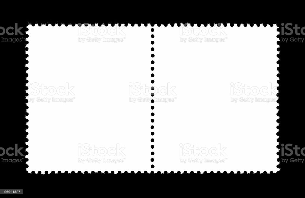 plain stamps stock photo