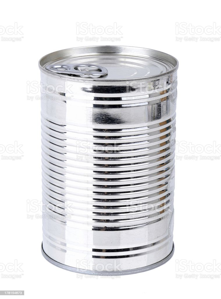 plain tin can royalty-free stock photo