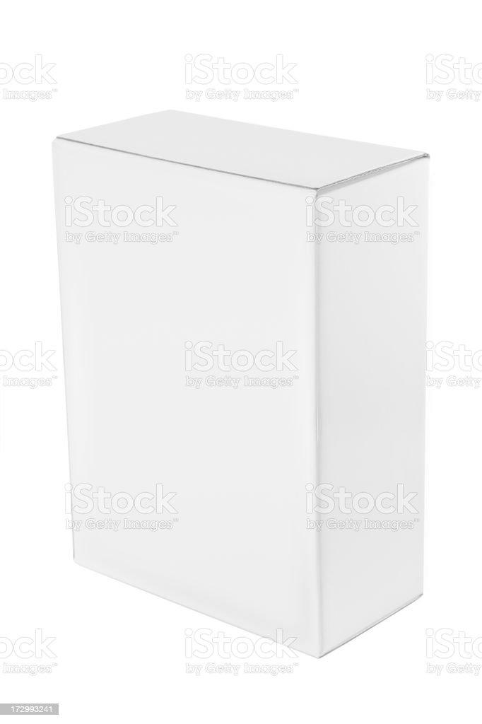 Plain white box royalty-free stock photo