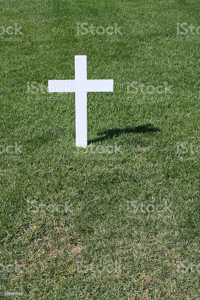 Plain White Cross stock photo