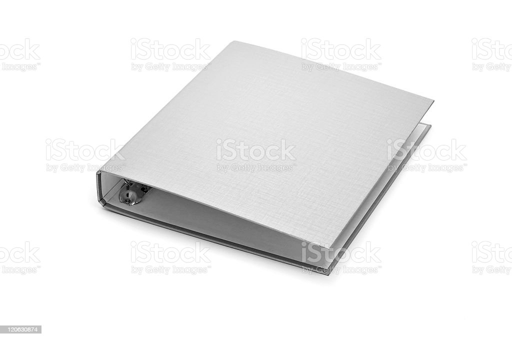 A plain white empty ring binder folder on a background stock photo