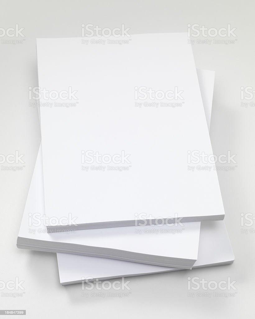 plain white paper stock photo