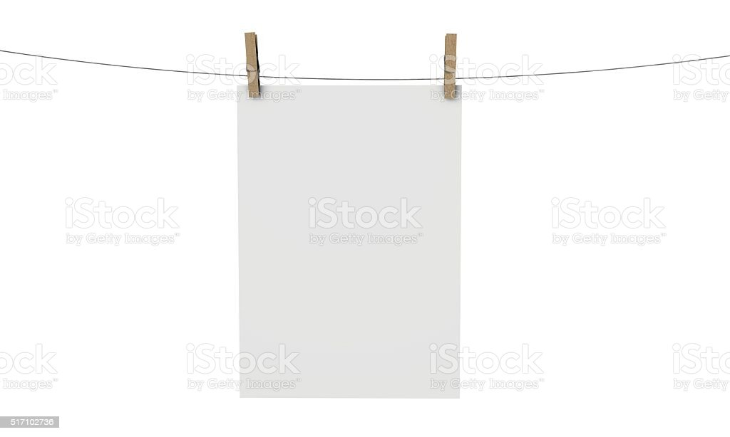 plain white poster mock up stock photo