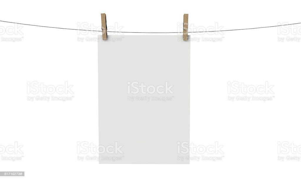plain white poster mock up stock photo