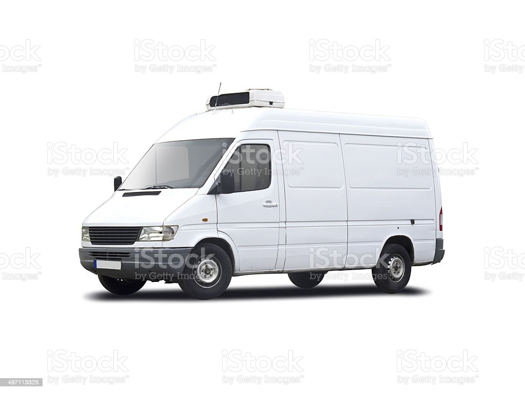 Plain white van royalty-free stock photo