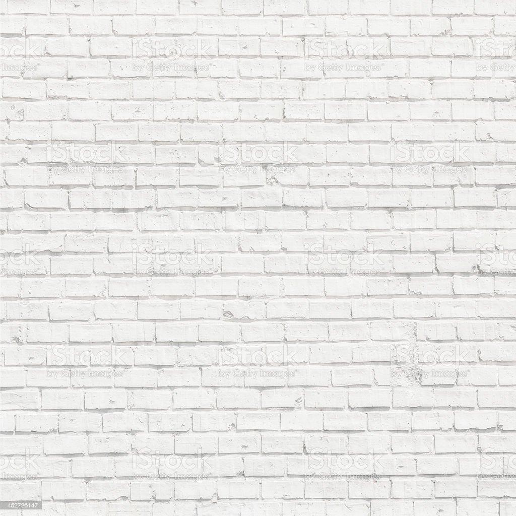 Plain white wall made of brick royalty-free stock photo