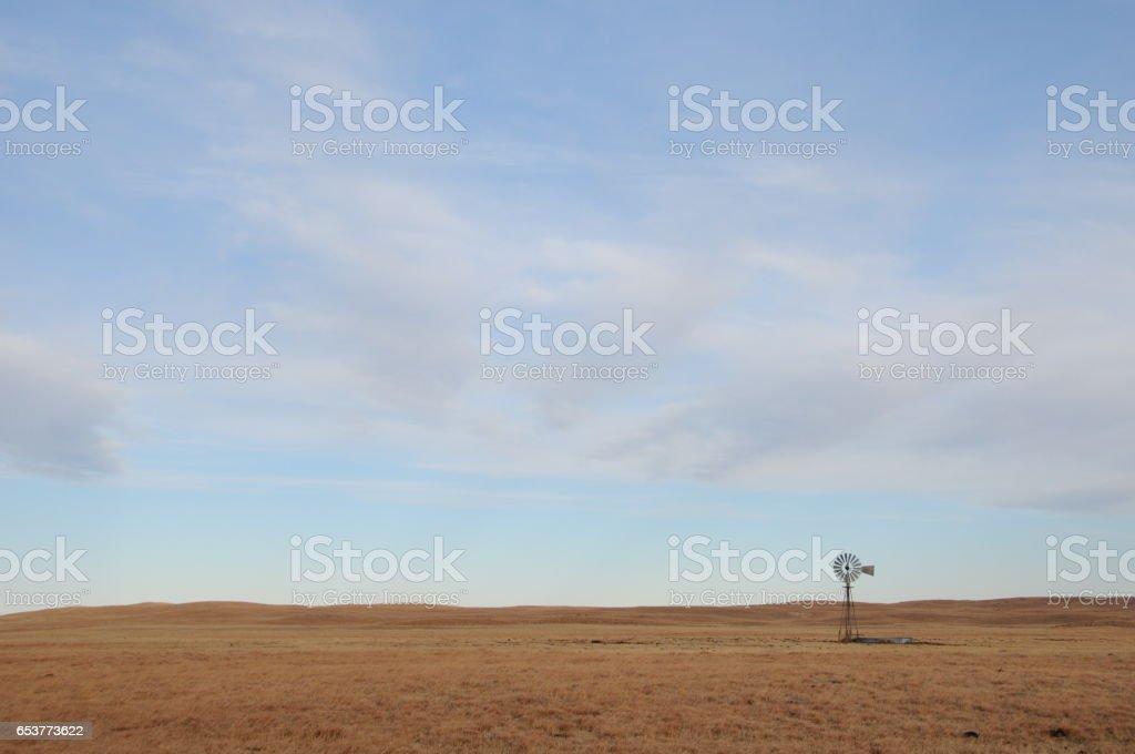 Plain Windmill stock photo