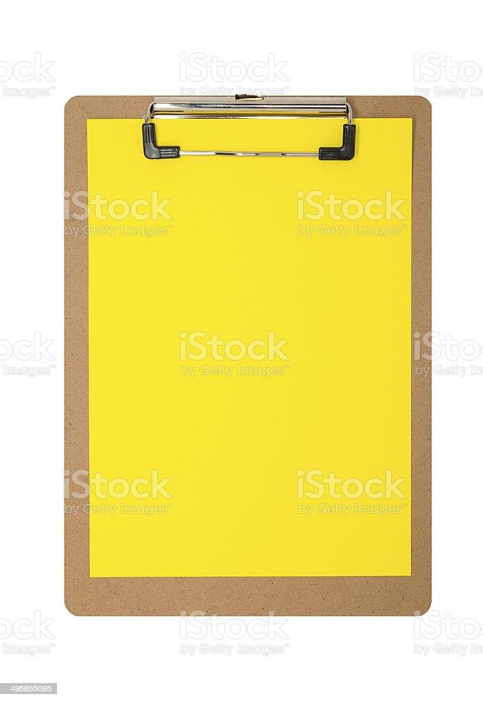 Simples Amarela área de transferência foto royalty-free