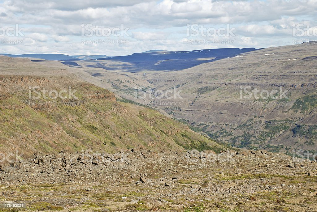 Plains, gorges and cliffs royalty-free stock photo