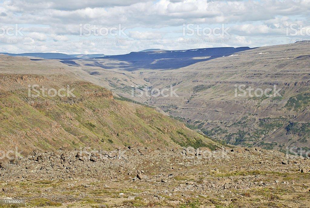 Plains, gorges and cliffs stock photo