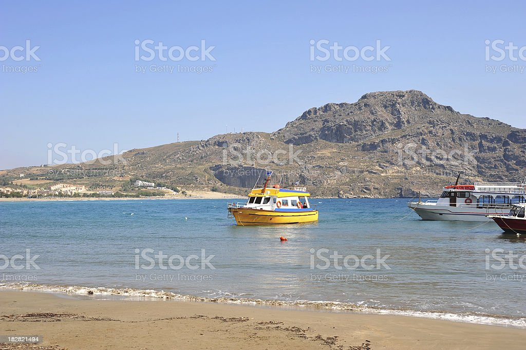 Plakias beach in Crete, Greece stock photo
