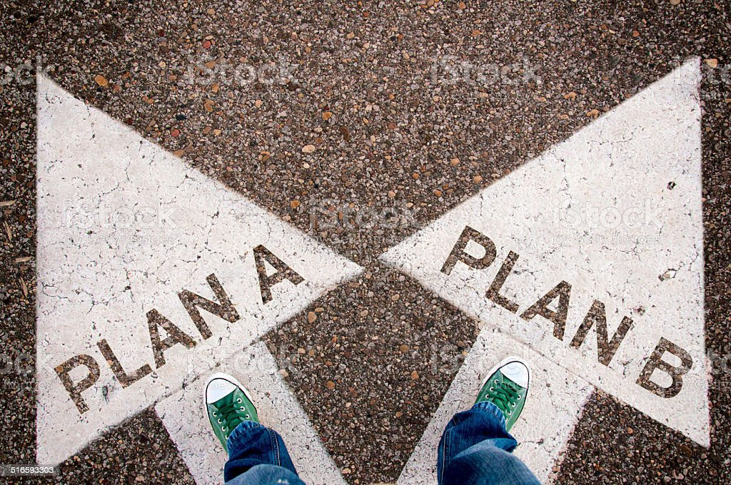 Plan a and b stock photo
