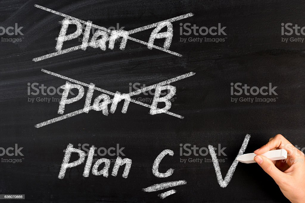 Plan A B C stock photo