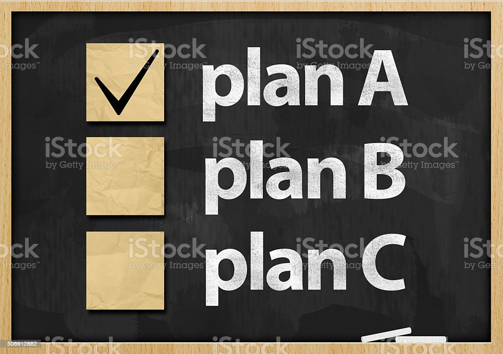 Plan A / Blackboard concept (Click for more) stock photo