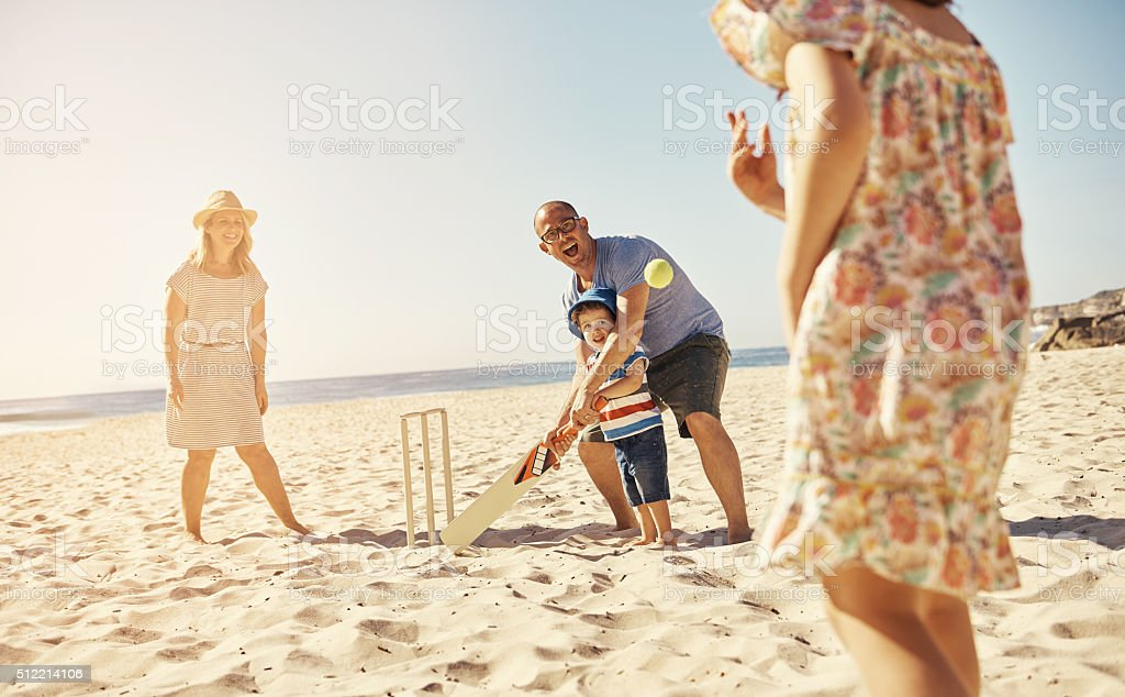 Plan a fun day at the beach stock photo