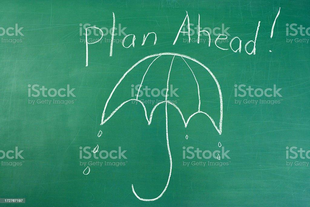 Plan Ahead Chalk Drawing royalty-free stock photo