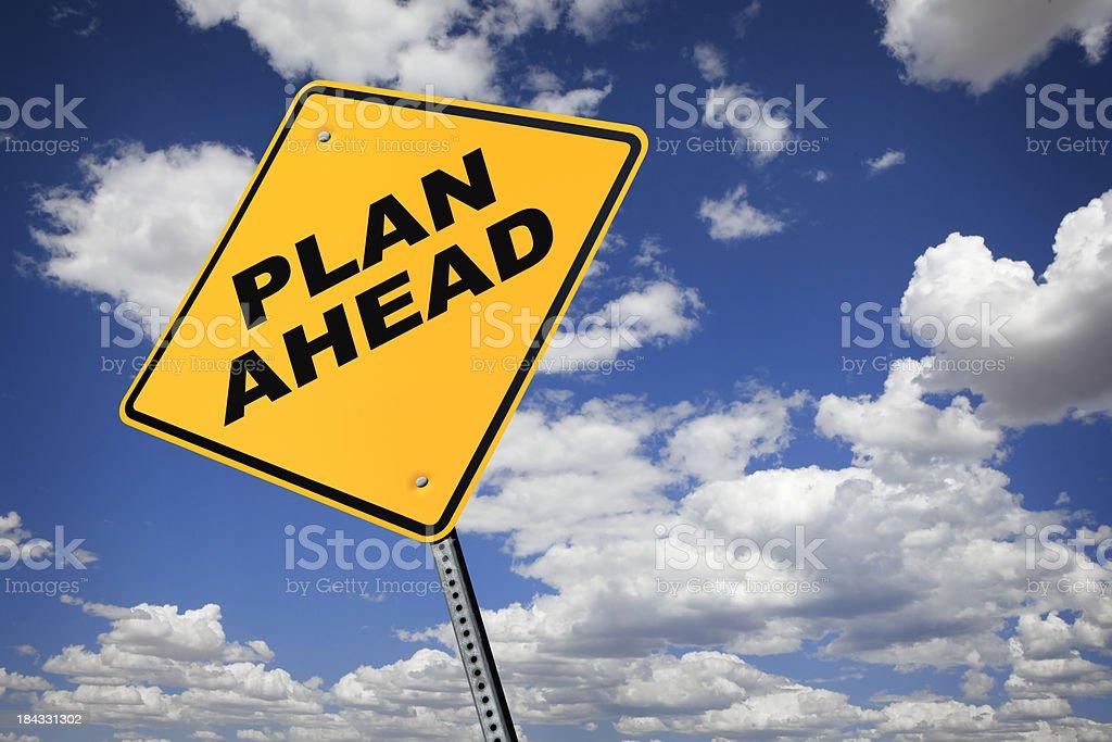 Plan Ahead royalty-free stock photo