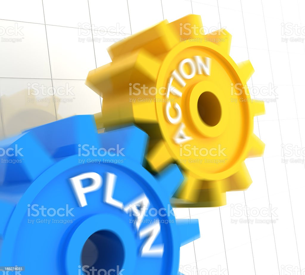 Plan and action stock photo