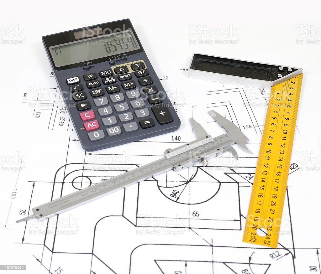 plan and calculate stock photo