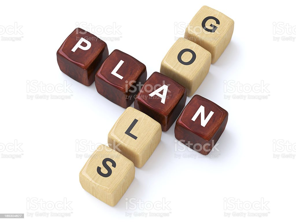 Plan and Goals crosswords royalty-free stock photo
