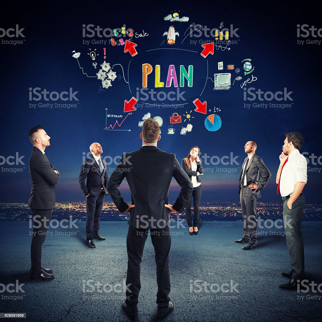 Plan and project of team idea stock photo
