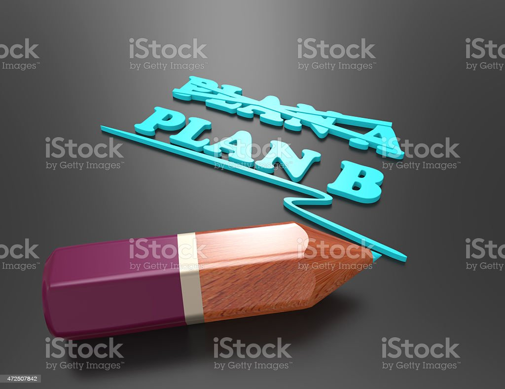 plan a-plan b-concept for change of plan stock photo