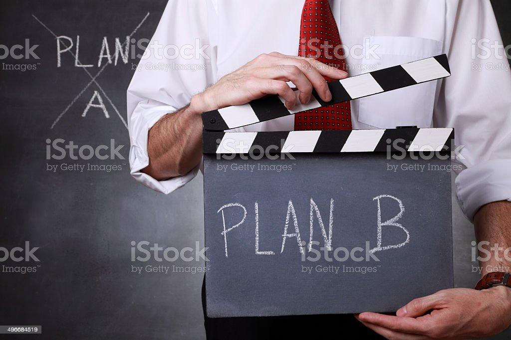 Plan B.  Action! royalty-free stock photo
