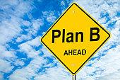 Plan B Ahead Road Sign