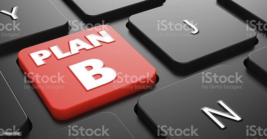 Plan B on Red Keyboard Button. stock photo
