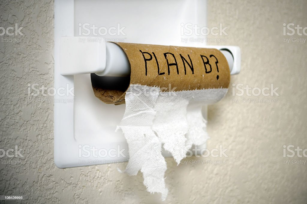 Plan B? stock photo