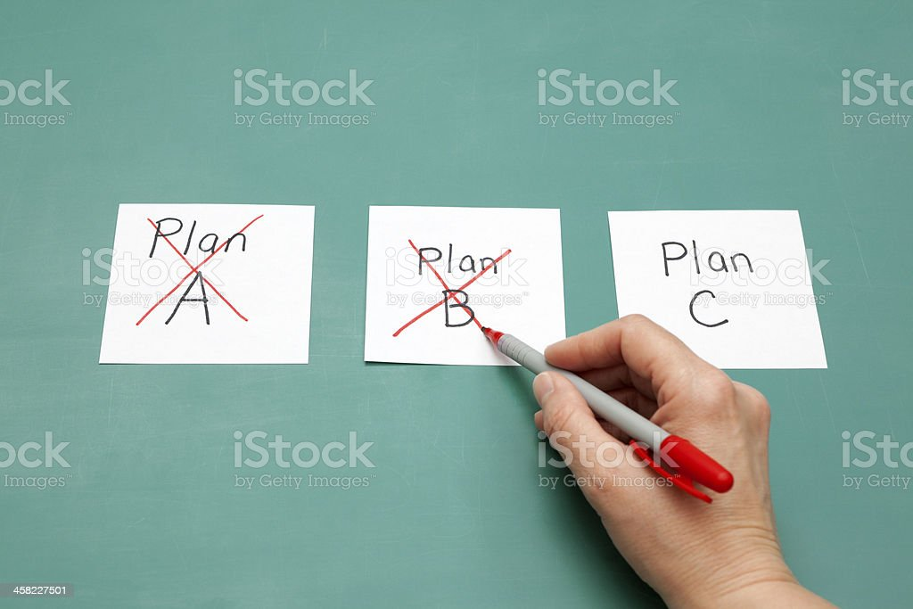 Plan C stock photo