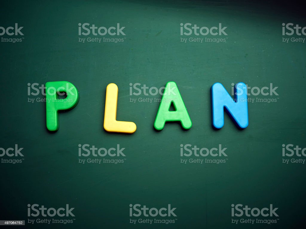 plan concept stock photo