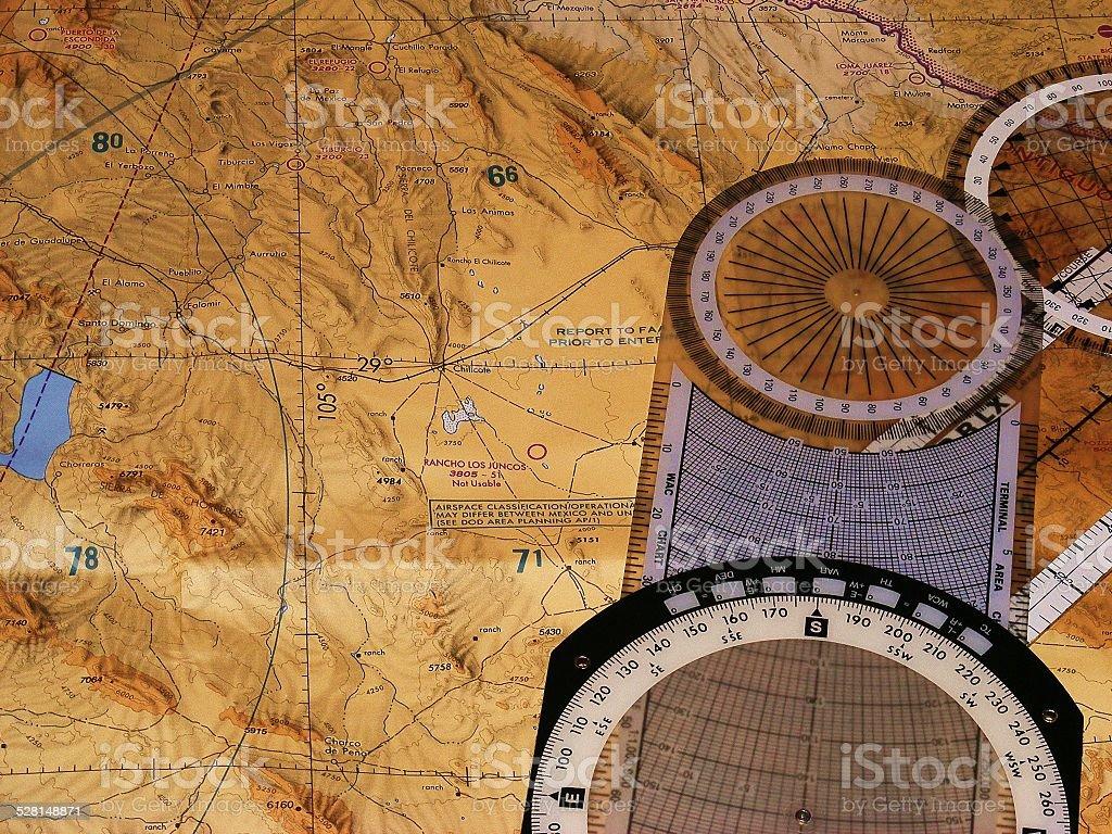 Plan de vuelo stock photo