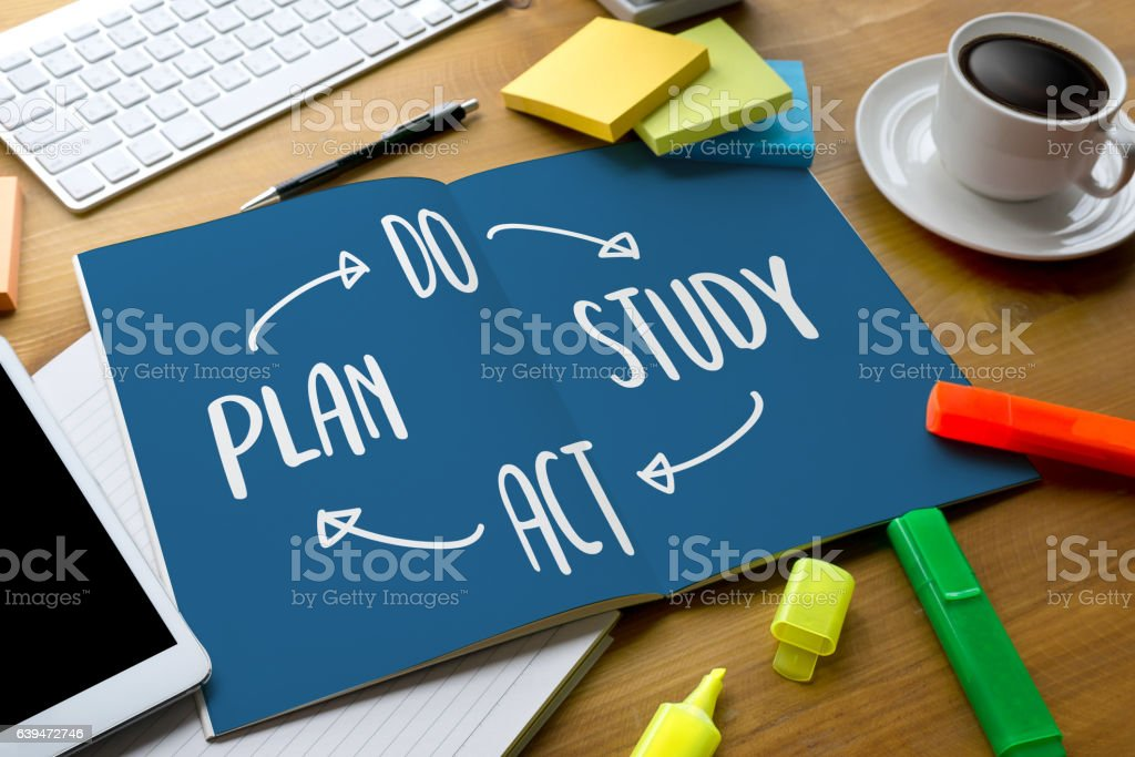 PDSA - Plan Do Study Act  , Encouragement Time to stock photo