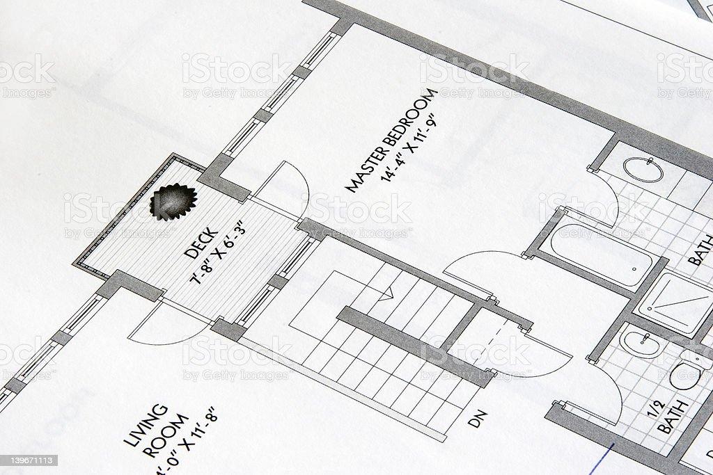plan drawing2 royalty-free stock photo