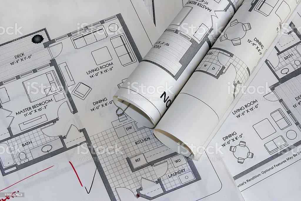 plan drawing3 stock photo