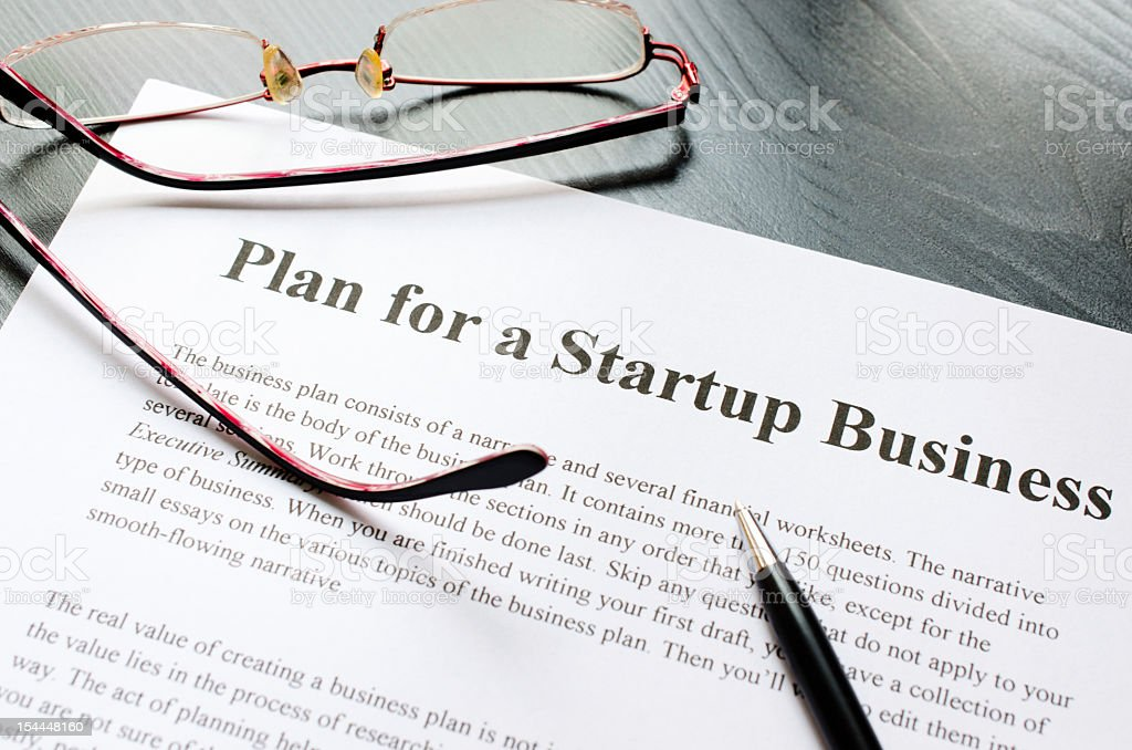 plan for a startup business royalty-free stock photo