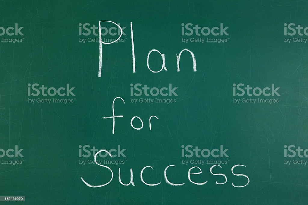 Plan for Success Chalkboard royalty-free stock photo