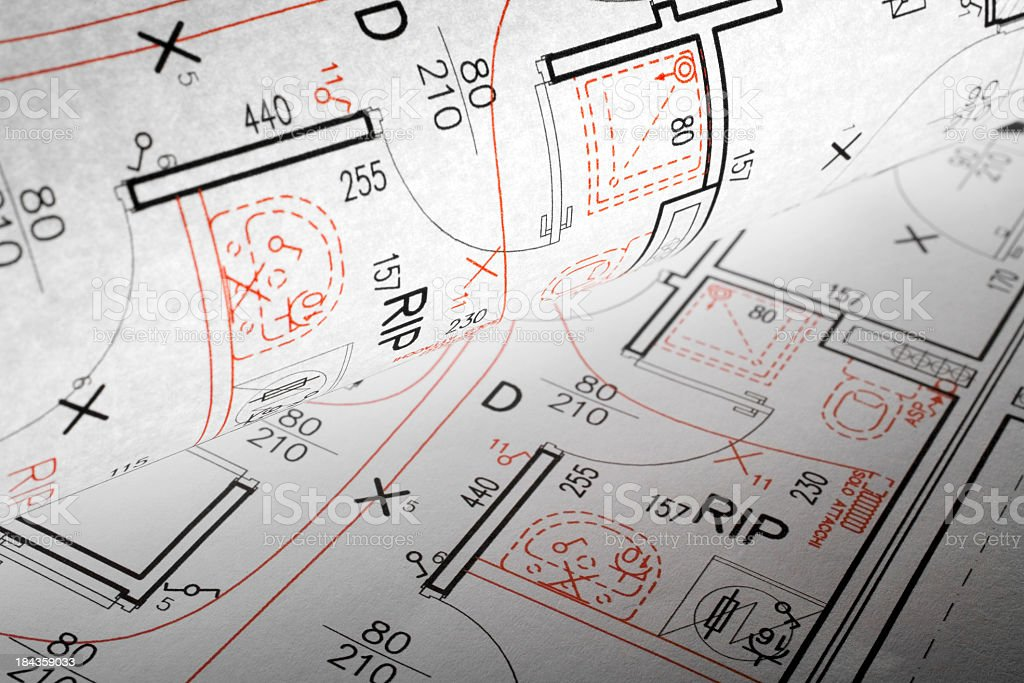 Plan of a house royalty-free stock photo