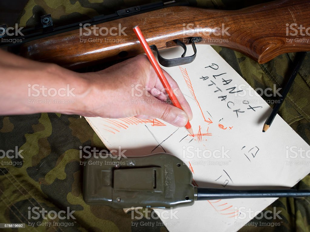 Plan Of Attack stock photo