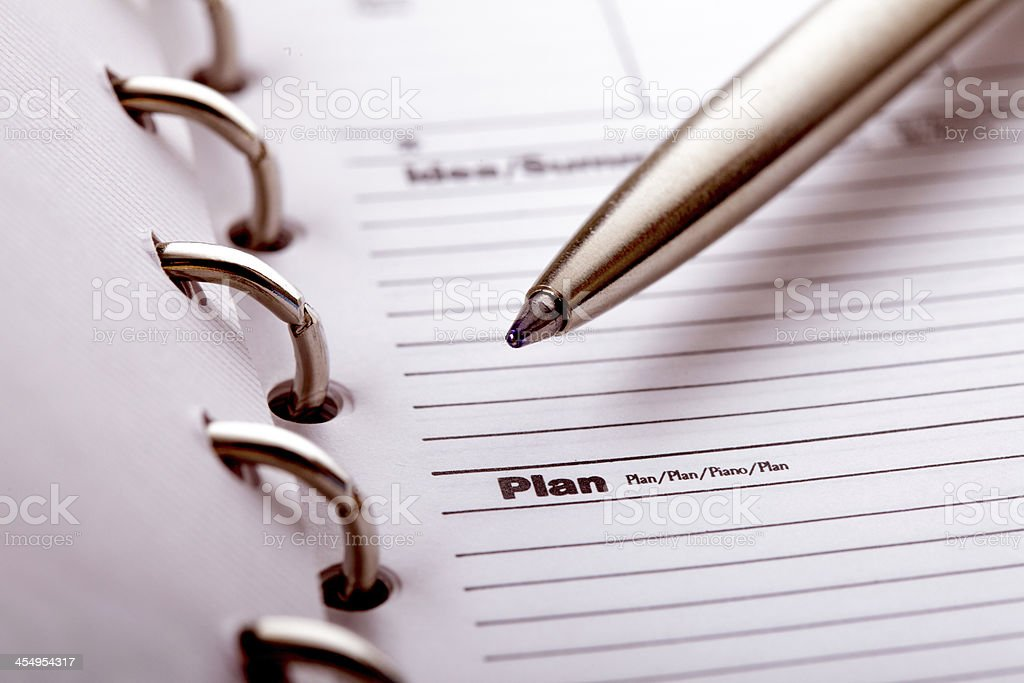 Plan organizer royalty-free stock photo