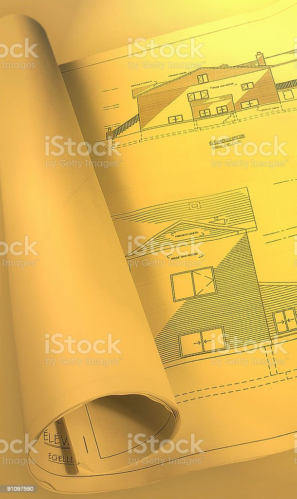 plan warm architectural royalty-free stock photo