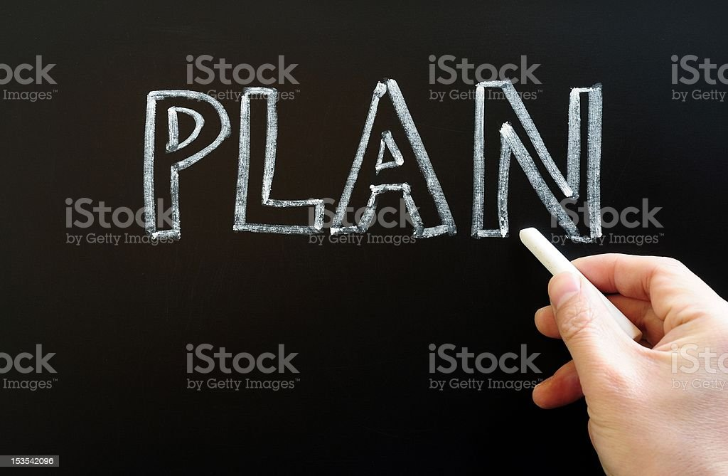 Plan written with chalk royalty-free stock photo