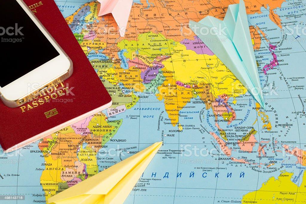 plan your travel stock photo