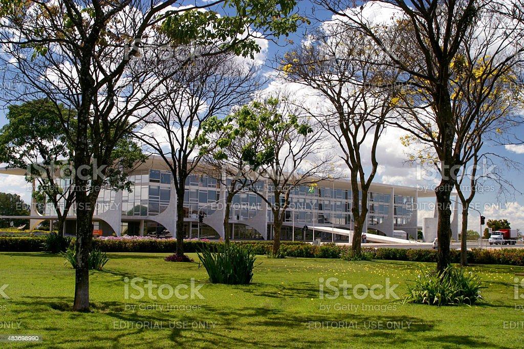 Planalto Palace Brazilian Government Seat in Brasilia stock photo